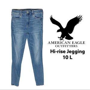 American Eagle Hi-Rise Jegging Jeans 10L